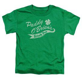 Paddy O'briens Irish Pub Short Sleeve Toddler Tee Kelly Green T-Shirt