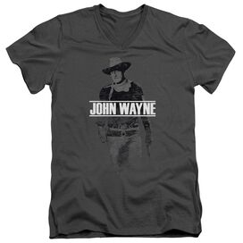 John Wayne Fade Off Short Sleeve Adult V Neck T-Shirt