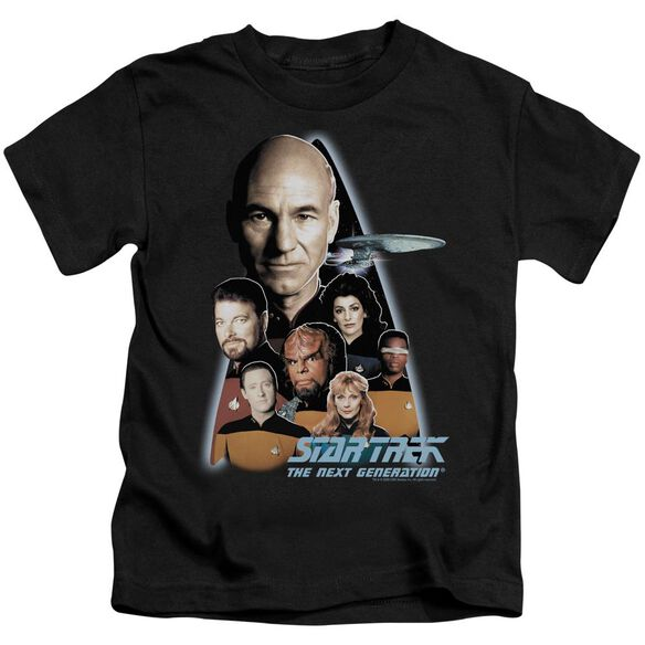 Star Trek The Next Generation Short Sleeve Juvenile Black Md T-Shirt