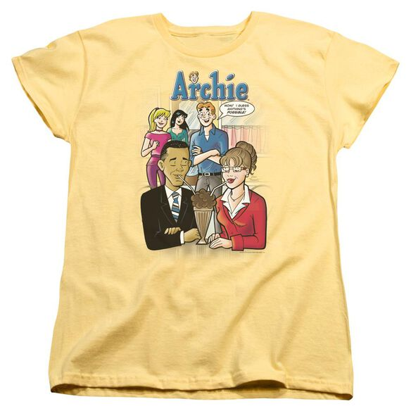 Archie Comics Anythings Possible Short Sleeve Womens Tee T-Shirt