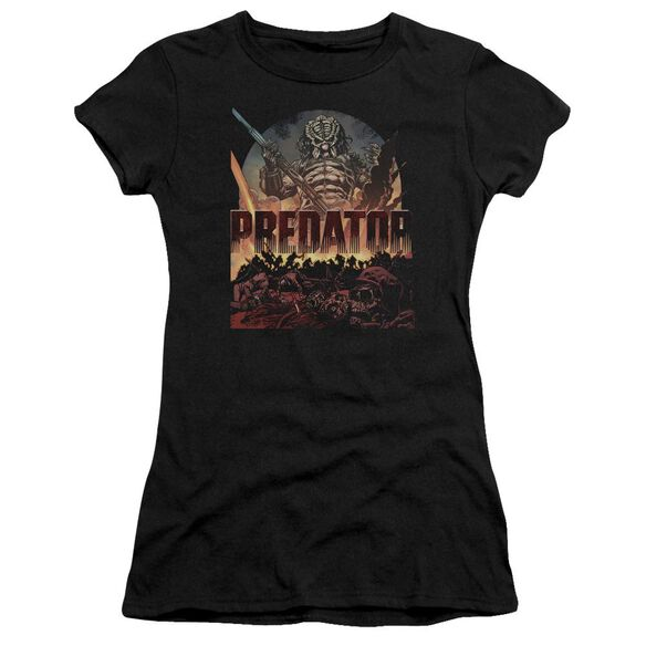 Predator Battle Hbo Short Sleeve Junior Sheer T-Shirt