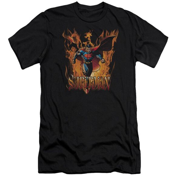 Superman Through The Fire Premuim Canvas Adult Slim Fit