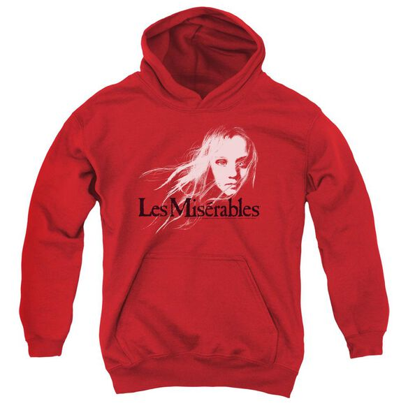 Les Miserables Textured Logo Youth Pull Over Hoodie
