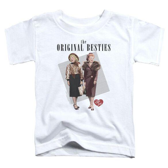 I Love Lucy Original Bestie Short Sleeve Toddler Tee White T-Shirt