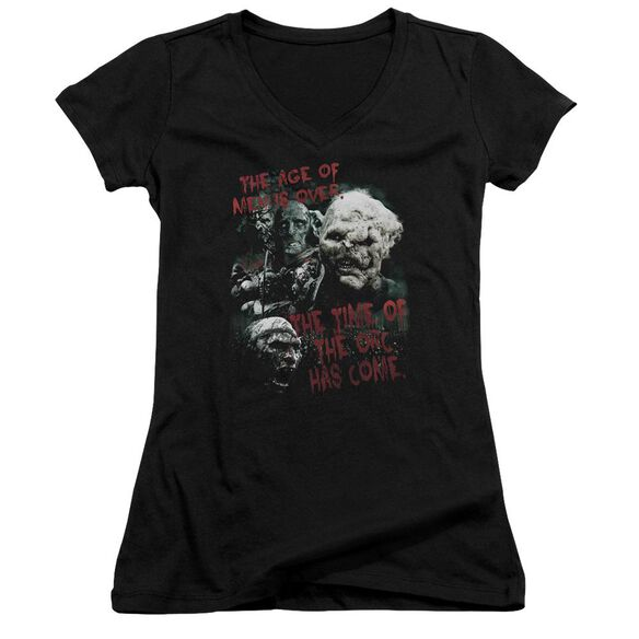Lor Time Of The Orc Junior V Neck T-Shirt