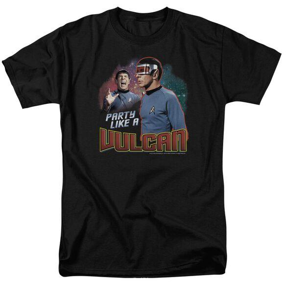 STAR TREK PARTY LIKE A VULCAN - S/S ADULT 18/1 - BLACK T-Shirt