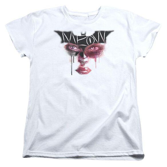 Dark Knight Rises Meow Short Sleeve Women's Tee T-Shirt