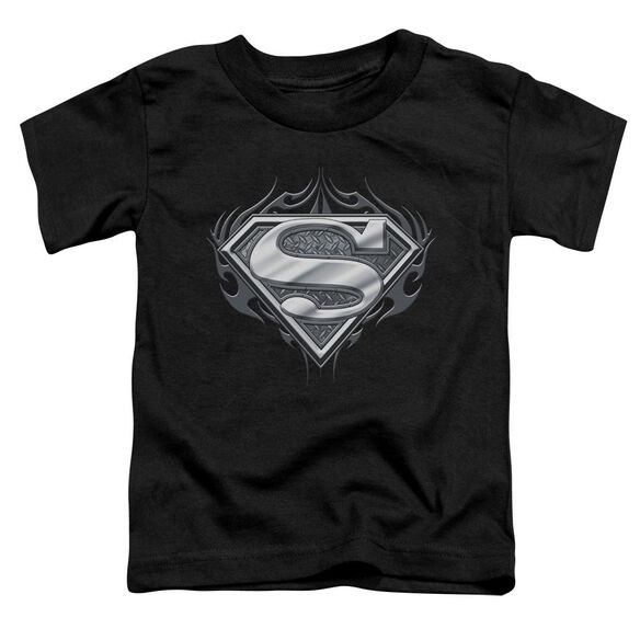 Superman Biker Metal Short Sleeve Toddler Tee Black Sm T-Shirt