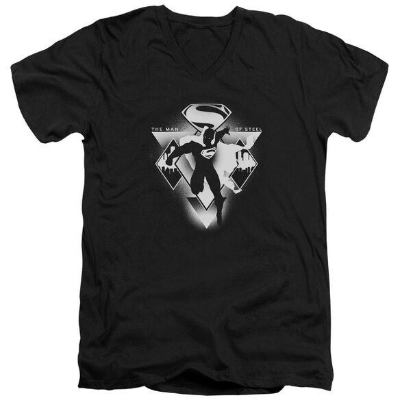 Batman V Superman Triple Diamond Short Sleeve Adult V Neck T-Shirt