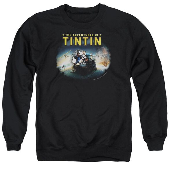 Tintin Journey Adult Crewneck Sweatshirt