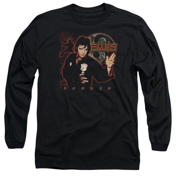Elvis Presley Karate Long Sleeve Adult T-Shirt
