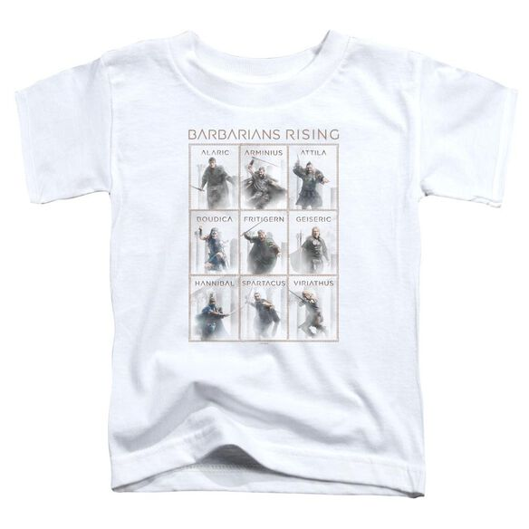 Barbarians Rising Nine Short Sleeve Toddler Tee White T-Shirt