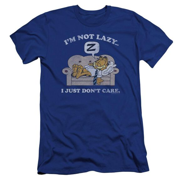 Garfield Not Lazy Premuim Canvas Adult Slim Fit Royal