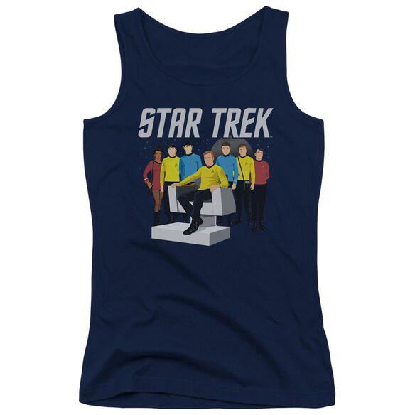 Star Trek Vector Crew - Juniors Tank Top - Navy