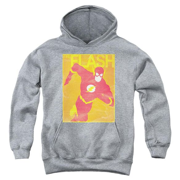 Jla Simple Flash Poster Youth Pull Over Hoodie