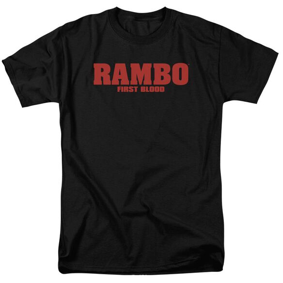 Rambo:First Blood Logo Short Sleeve Adult Black T-Shirt