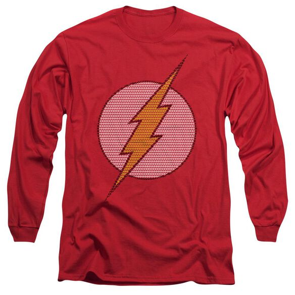 Dc Flash Little Logos Long Sleeve Adult T-Shirt