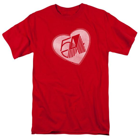 Studio 54 I Heart Studio 54 Short Sleeve Adult Red T-Shirt