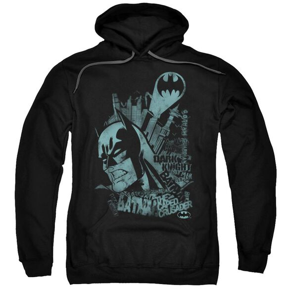 Batman Gritted Teeth Adult Pull Over Hoodie Black