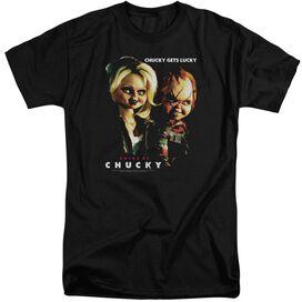 BRIDE OF CHUCKY CHUCKY GETS LUCKY - S/S ADULT TALL - BLACK - XL T-Shirt