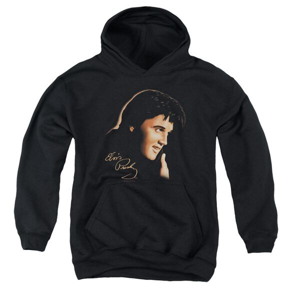 Elvis Warm Portrait Youth Pull Over Hoodie