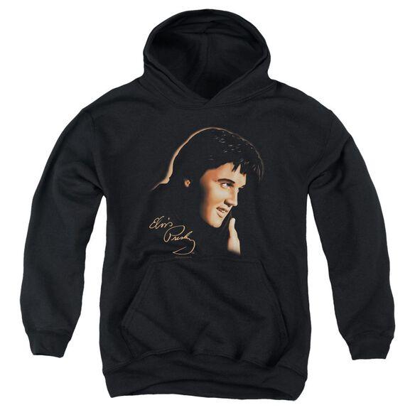 Elvis Presley Warm Portrait Youth Pull Over Hoodie