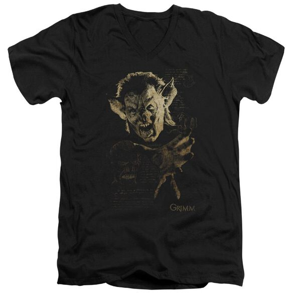 Grimm Murcielago Short Sleeve Adult V Neck T-Shirt