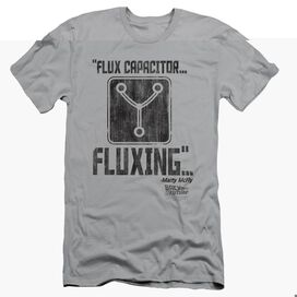 BACK TO THE FUTURE FLUXING - S/S ADULT 30/1 - SILVER - SM - SILVER T-Shirt