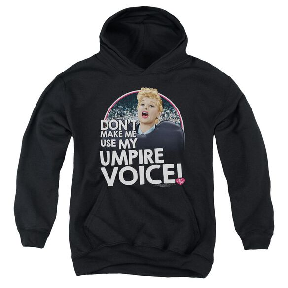 I Love Lucy Umpire Youth Pull Over Hoodie