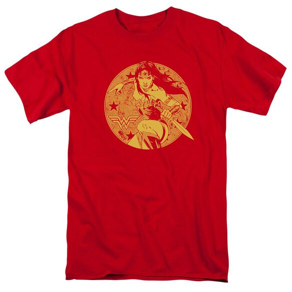 Jla Young Wonder Short Sleeve Adult T-Shirt