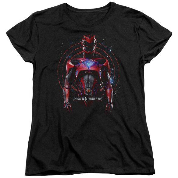 Power Rangers Red Ranger Short Sleeve Womens Tee T-Shirt