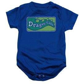 Dragon Tales Logo Clean Infant Snapsuit Royal Blue