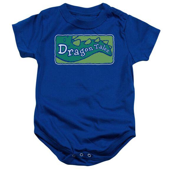Dragon Tales Logo Clean Infant Snapsuit Royal Blue