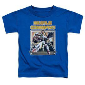 Atari Missle Commander Short Sleeve Toddler Tee Royal Blue T-Shirt