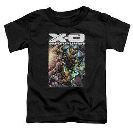 Xo Manowar Pit Short Sleeve Toddler Tee Black T-Shirt