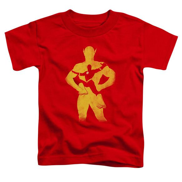Jla Flash Knockout Short Sleeve Toddler Tee Red T-Shirt
