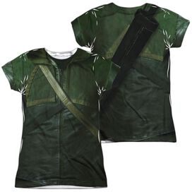 Arrow Uniform (Front Back Print) Short Sleeve Junior Poly Crew T-Shirt