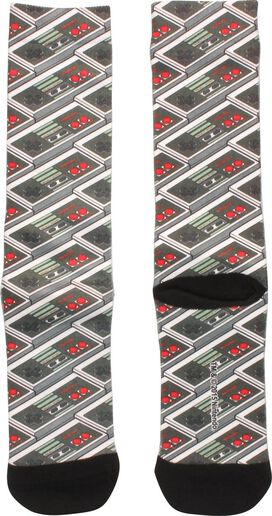 Nintendo Controller Repeat Sublimated Crew Socks