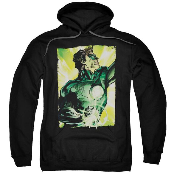 Green Lantern Up Up Adult Pull Over Hoodie