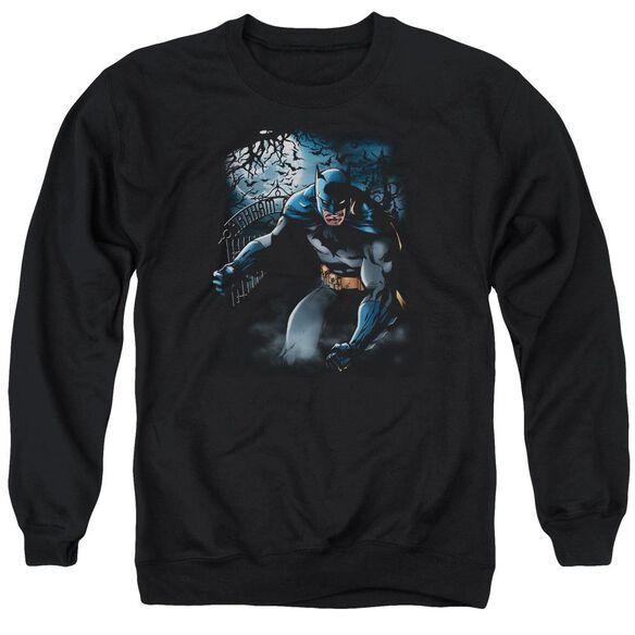 Batman Light Of The Moon - Adult Crewneck Sweatshirt - Black