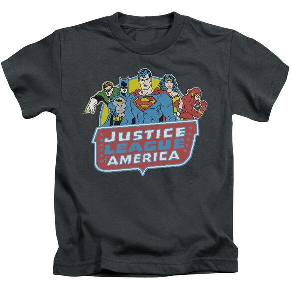 Dc 8 Bit League Short Sleeve Juvenile Charcoal Md T-Shirt