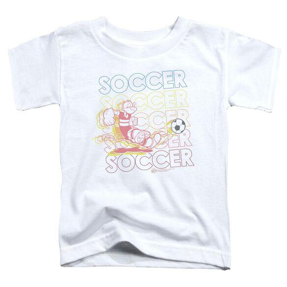 POPEYE SOCCER - S/S TODDLER TEE - WHITE - T-Shirt