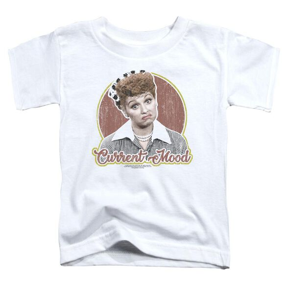 I Love Lucy Current Mood Short Sleeve Toddler Tee White T-Shirt