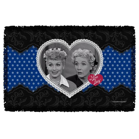 I Love Lucy Lace Of Friendship Woven Throw