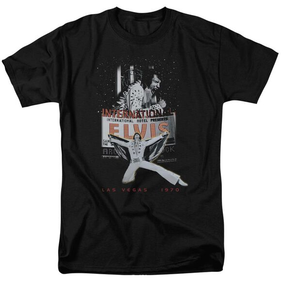 Elvis Las Vegas Short Sleeve Adult T-Shirt