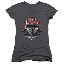 TOP GUN GOOSE HELMET - JUNIOR V-NECK - CHARCOAL