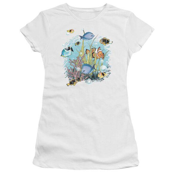 Wildlife Tropical Fish Short Sleeve Junior Sheer T-Shirt