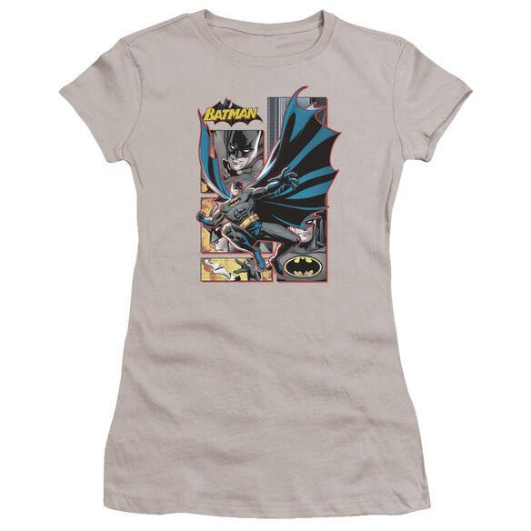 Jla Batman Panels Premium Bella Junior Sheer Jersey