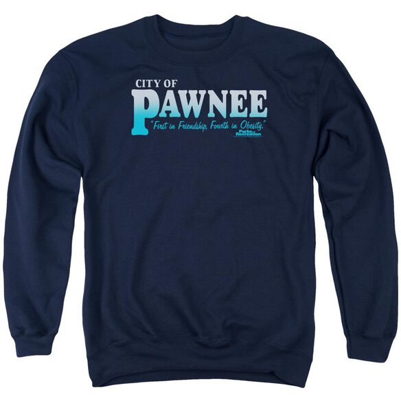 Parks And Rec Pawnee Adult Crewneck Sweatshirt