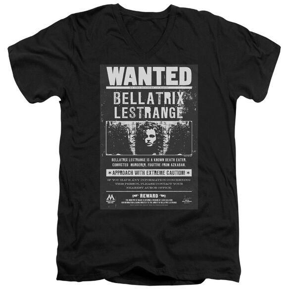 Harry Potter Wanted Bellatrix Short Sleeve Adult V Neck T-Shirt
